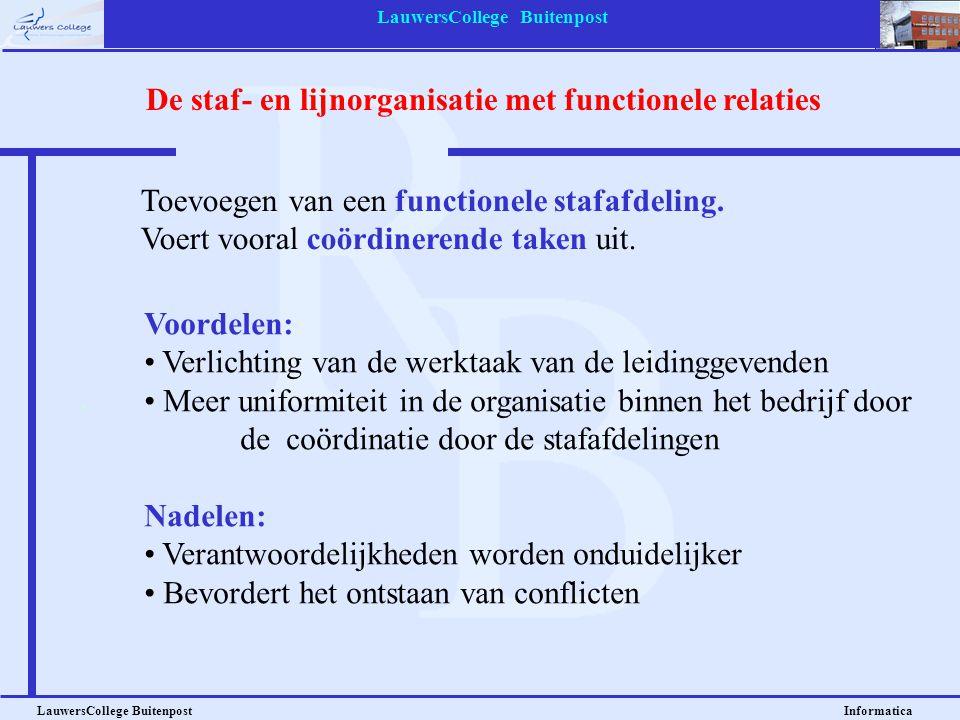 LauwersCollege Buitenpost LauwersCollege Buitenpost Informatica Voordelen: • Verlichting van de werktaak van de leidinggevenden • Meer uniformiteit in