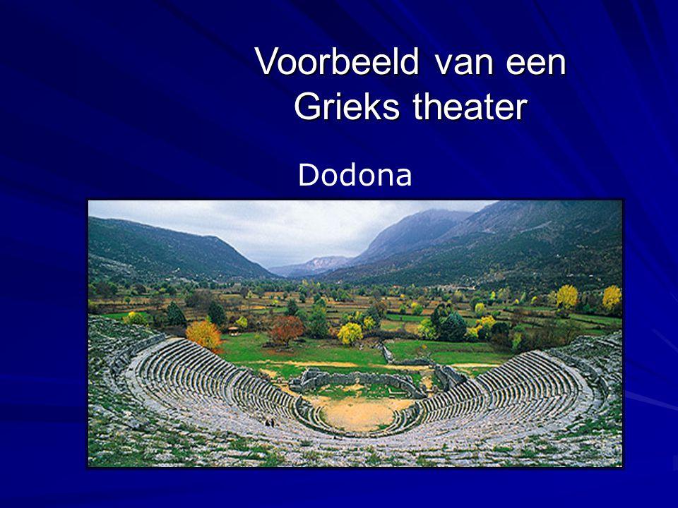 Voorbeeld van een Grieks theater Dodona
