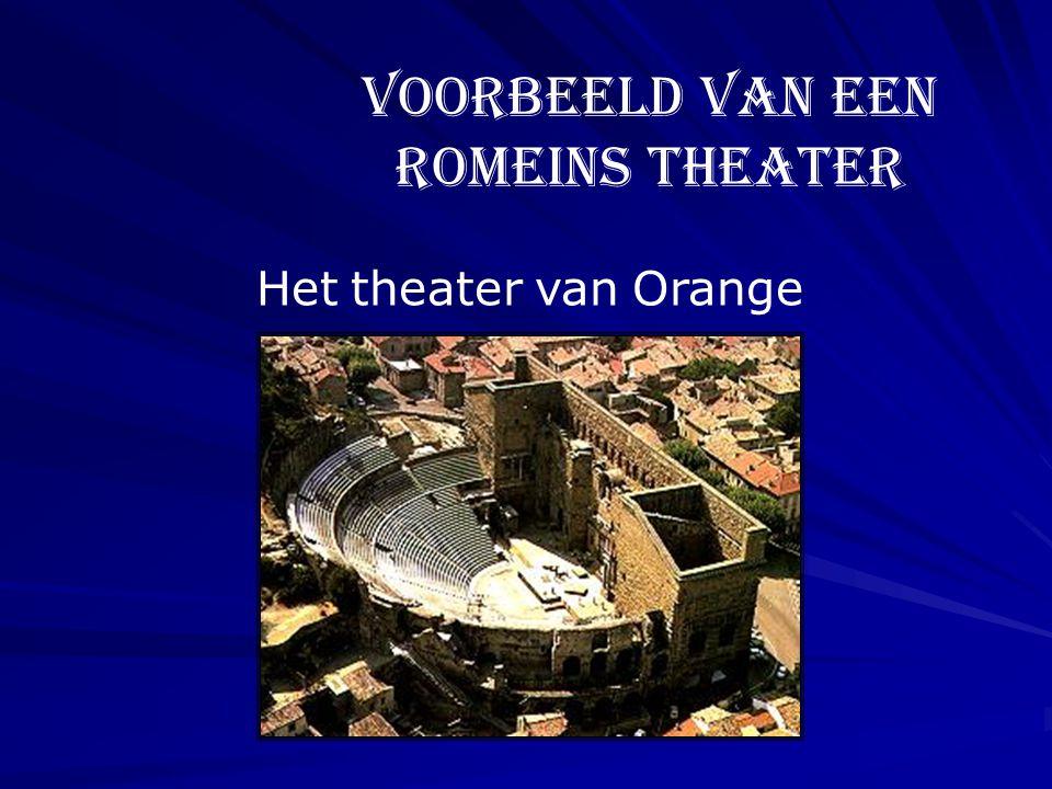 Het theater van Orange Voorbeeld van een Romeins theater