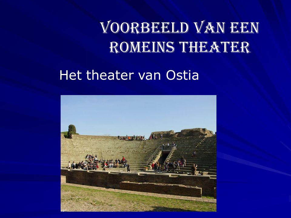Voorbeeld van een Romeins theater Het theater van Ostia