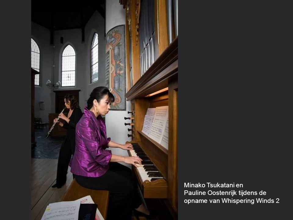 Minako Tsukatani en Pauline Oostenrijk tijdens de opname van Whispering Winds 2