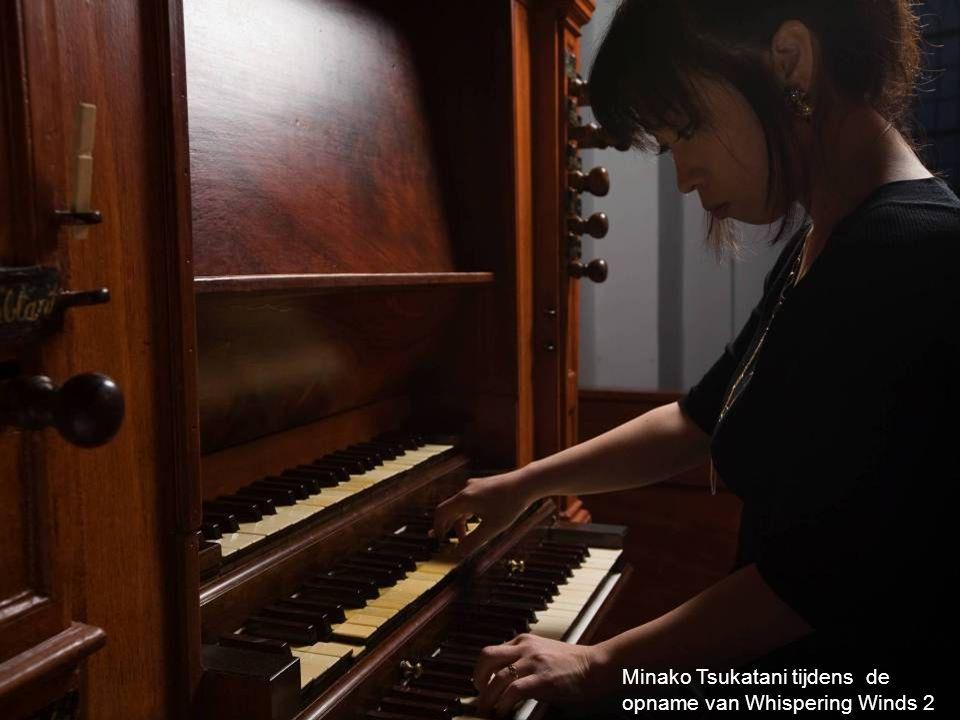 Minako Tsukatani tijdens de opname van Whispering Winds 2