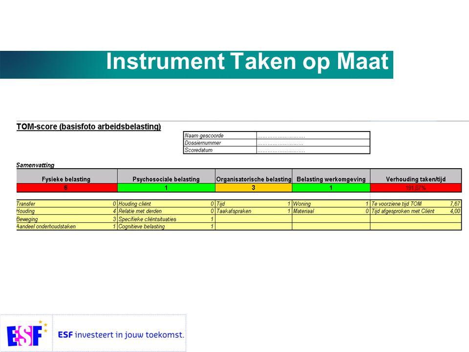 Instrument Taken op Maat