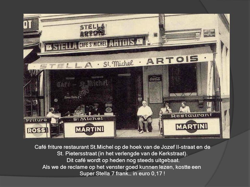 Het destijds bekende hotel Central op de hoek van de Louisastraat (links) en de Brabantstraat (rechts). Links voor op de foto : een terras werd, in af