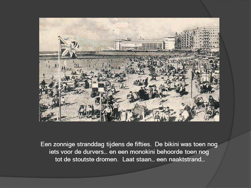 Links het gemeentehuis van deelgemeente Zandvoorde, voor de jaren zeventig nog een zelfstandige gemeente was in de schaduw van Oostende.