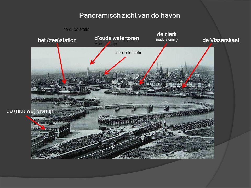 Zicht op de Visserskaai. Mits enig zoekwerk kan men er op heden nog enkele huizen terugvinden. Rechts bemerkt met de Cirkelstraat en links de Nieuwstr