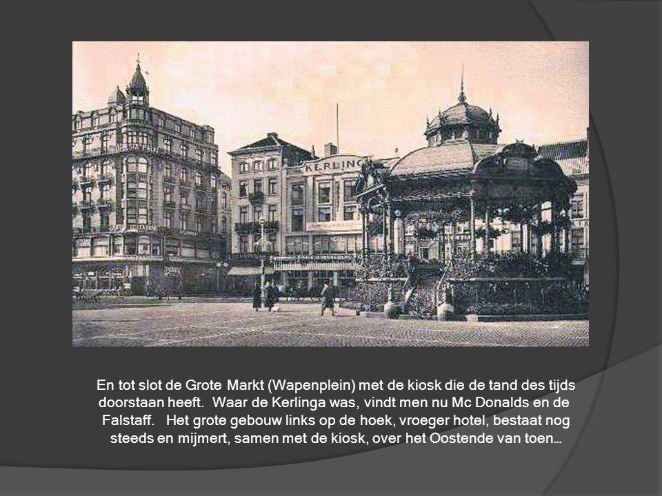 De verre voorvader van de stadsbus… de stadstram, hier in de Van Iseghemlaan, bekeken van aan 't Paard en kijkend richting Kursaal en Monacoplein.