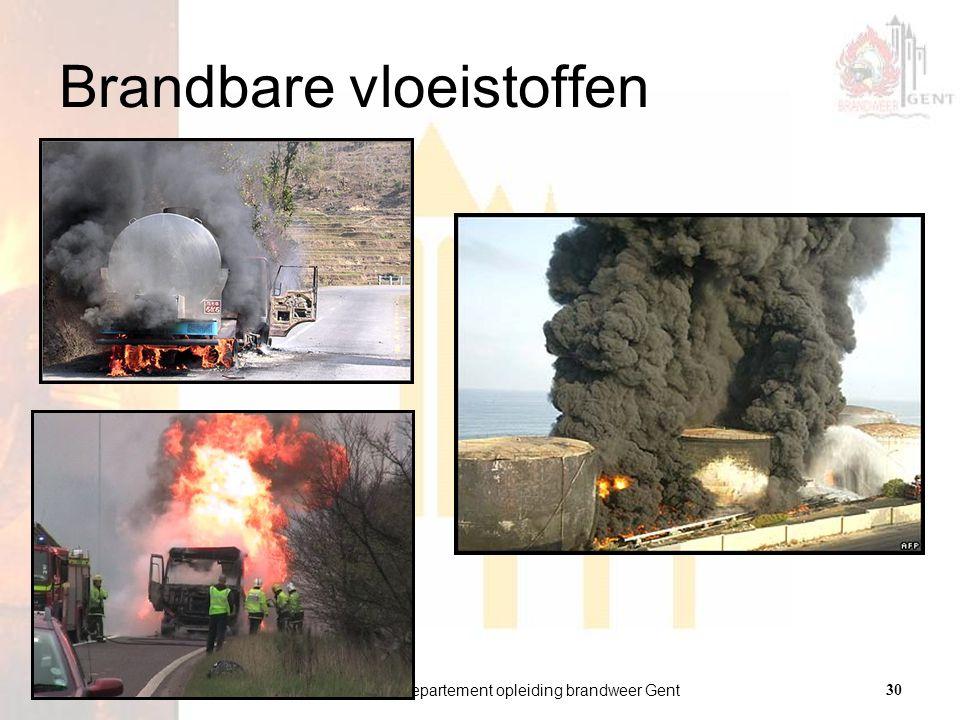 departement opleiding brandweer Gent30 versie 01 21.01.2009 Brandbare vloeistoffen