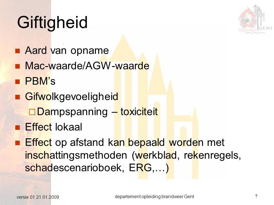 departement opleiding brandweer Gent28 versie 01 21.01.2009