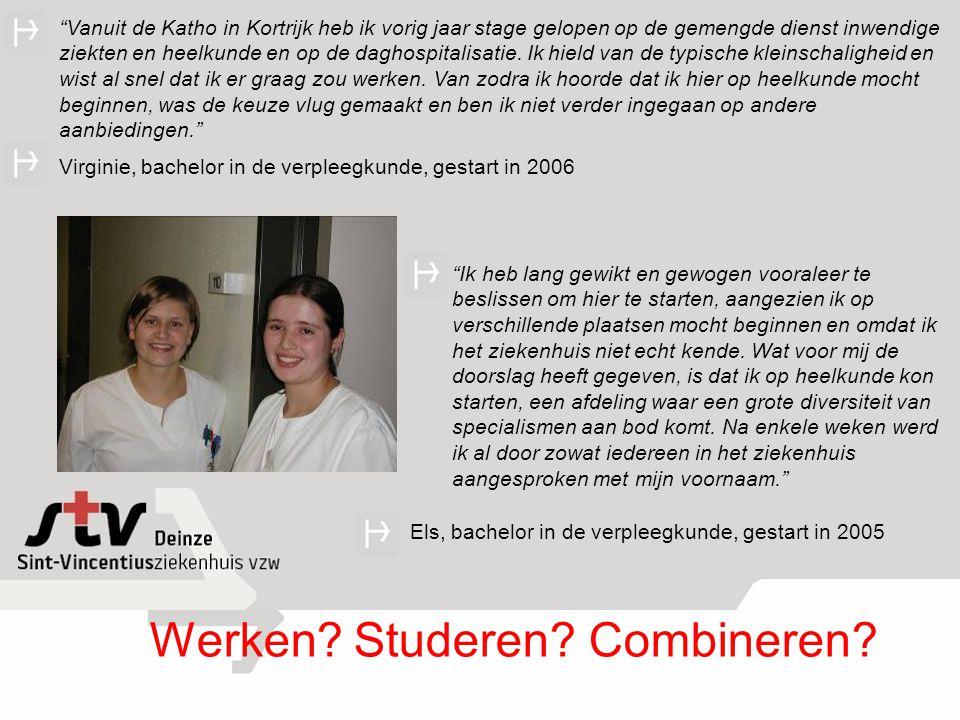 Vanuit de Katho in Kortrijk heb ik vorig jaar stage gelopen op de gemengde dienst inwendige ziekten en heelkunde en op de daghospitalisatie.