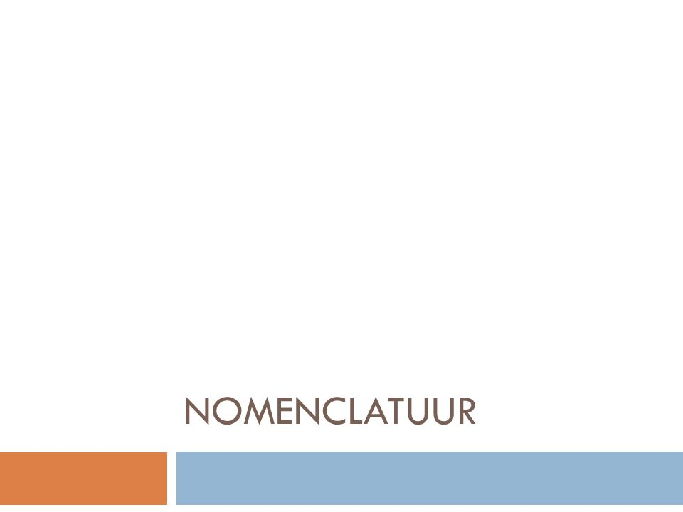 Nomenclatuur  Basis van de klinische flebologie  Anatomie veneuze systeem variabel  Cruciaal voor correcte behandeling  Bekende fouten:  v.