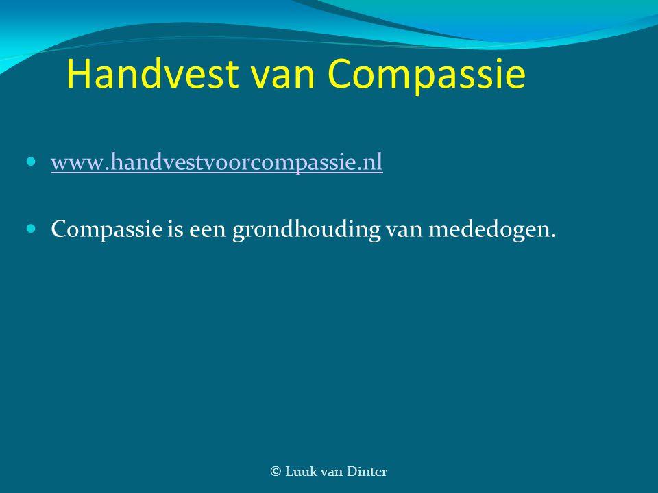 © Luuk van Dinter Handvest van Compassie  www.handvestvoorcompassie.nlwww.handvestvoorcompassie.nl  Compassie is een grondhouding van mededogen.