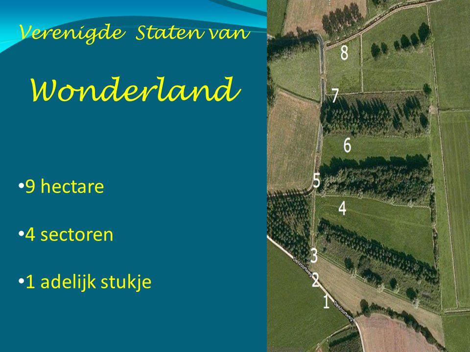 Verenigde Staten van Wonderland • 9 hectare • 4 sectoren • 1 adelijk stukje