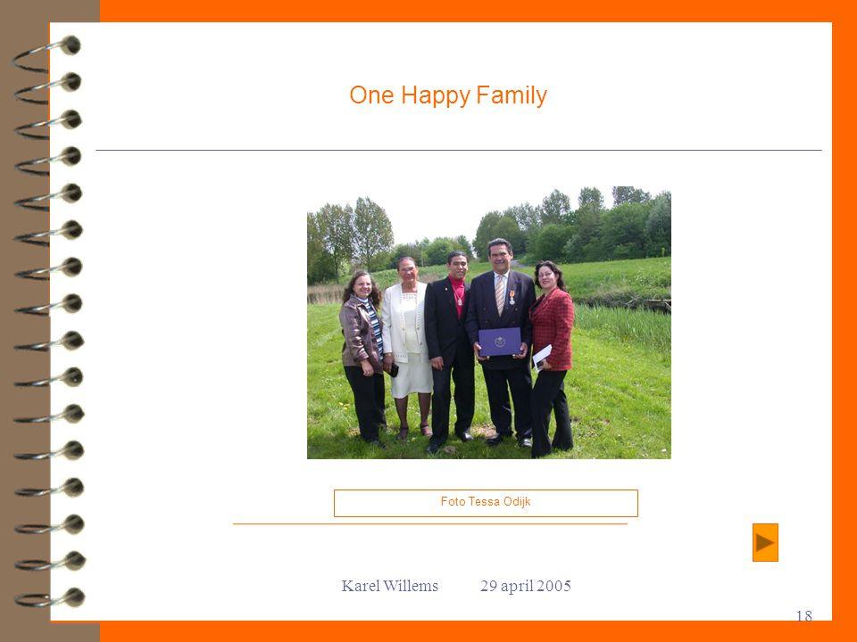 Karel Willems 29 april 2005 18 One Happy Family Foto Tessa Odijk