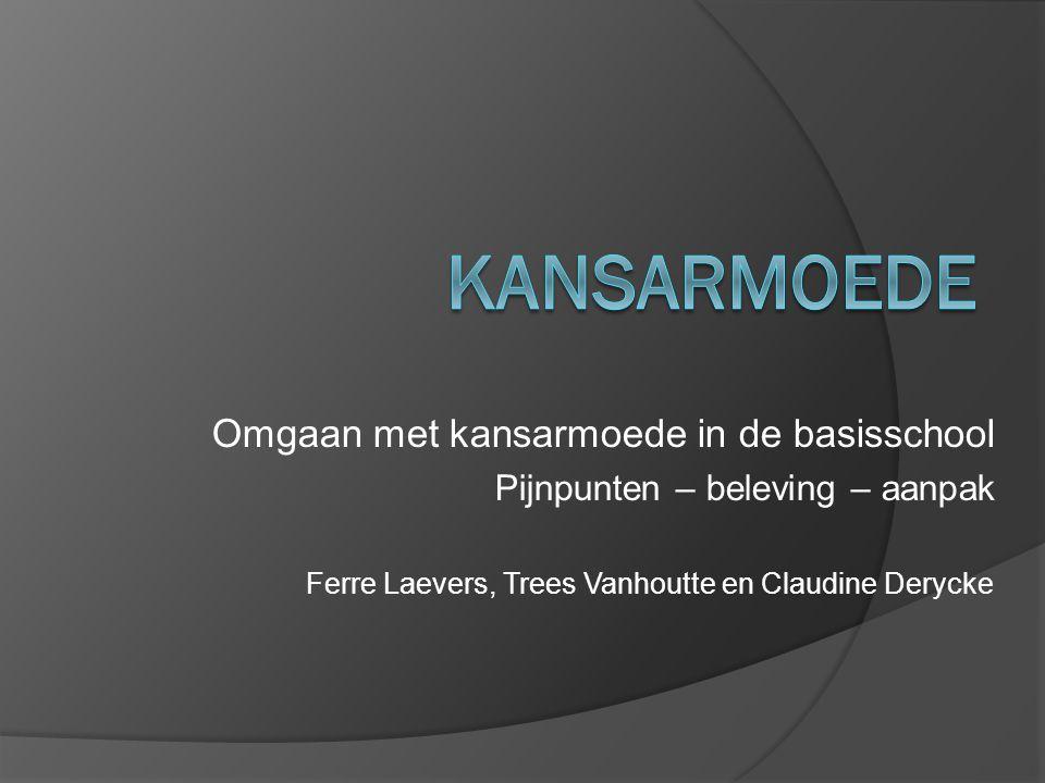 Omgaan met kansarmoede in de basisschool Pijnpunten – beleving – aanpak Ferre Laevers, Trees Vanhoutte en Claudine Derycke