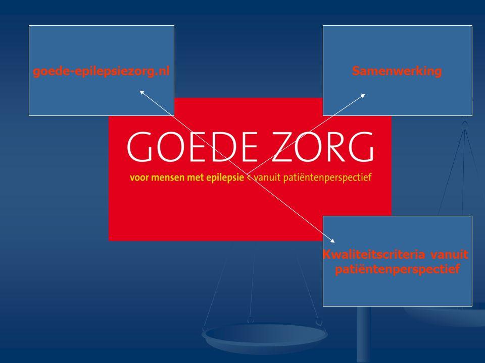 goede-epilepsiezorg.nlSamenwerking Kwaliteitscriteria vanuit patiëntenperspectief