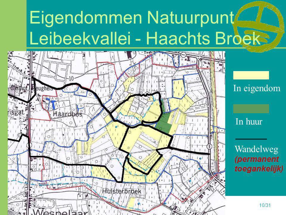 23-6-201410/31 Eigendommen Natuurpunt Leibeekvallei - Haachts Broek In huur In eigendom Wandelweg (permanent toegankelijk)
