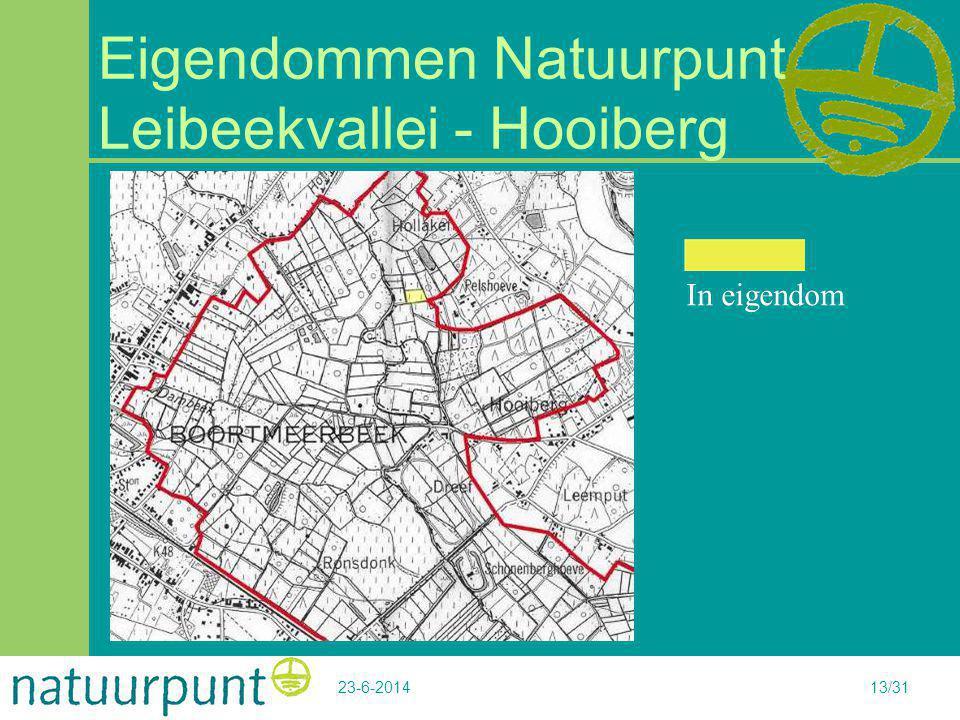 23-6-201413/31 Eigendommen Natuurpunt Leibeekvallei - Hooiberg In eigendom