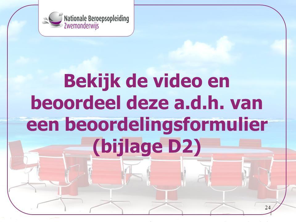24 Bekijk de video en beoordeel deze a.d.h. van een beoordelingsformulier (bijlage D2)