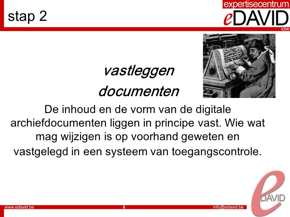 5 stap 3 structureren Er is een systematische ordening waarin de digitale documenten worden opgenomen.