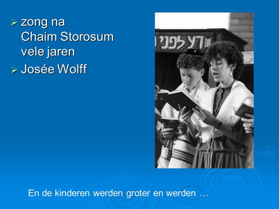  zong na Chaim Storosum vele jaren  Josée Wolff En de kinderen werden groter en werden …