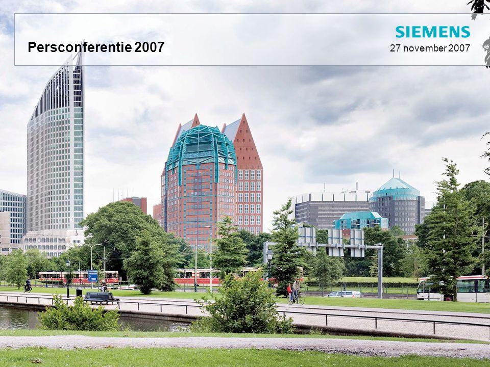 Agenda 160 jaar Siemens AG Kerncijfers Gang van zaken Toelichting op de resultaten Beveiliging Infrastructuur Gezondheidszorg en ICT Mobiliteit en beprijzen Vraag- en antwoordsessie Lunch