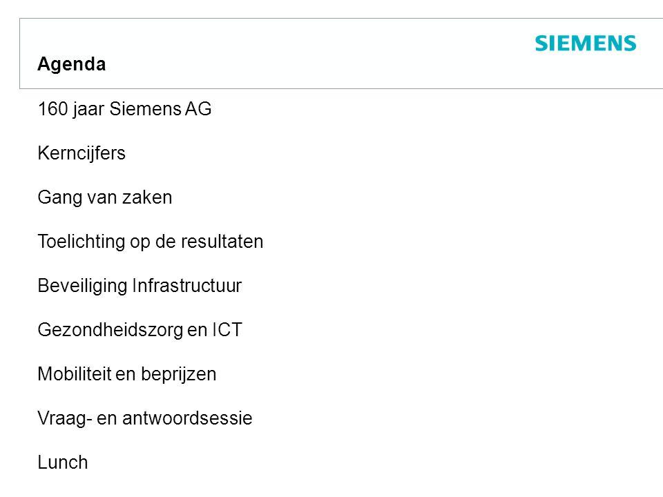 Siemens Groep in Nederland Omzet 2007 +70 milj.