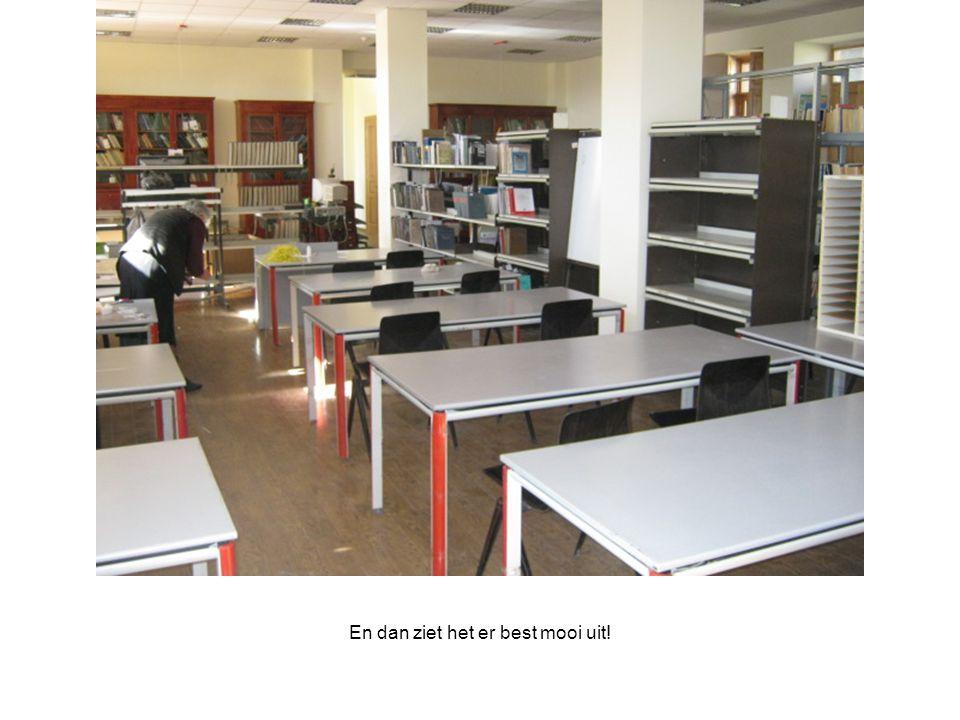Maar wij hebben lang niet genoeg spullen, omdat steeds meer scholen graag met ons project willen meedoen.