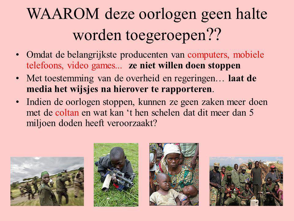 WAAROM zouden zij deze oorlog doen stoppen? Bedrijven van gerenommeerde multinationals zoals: Nokia Alcatel Apple Nikon Ericsson Bayer... worden in he
