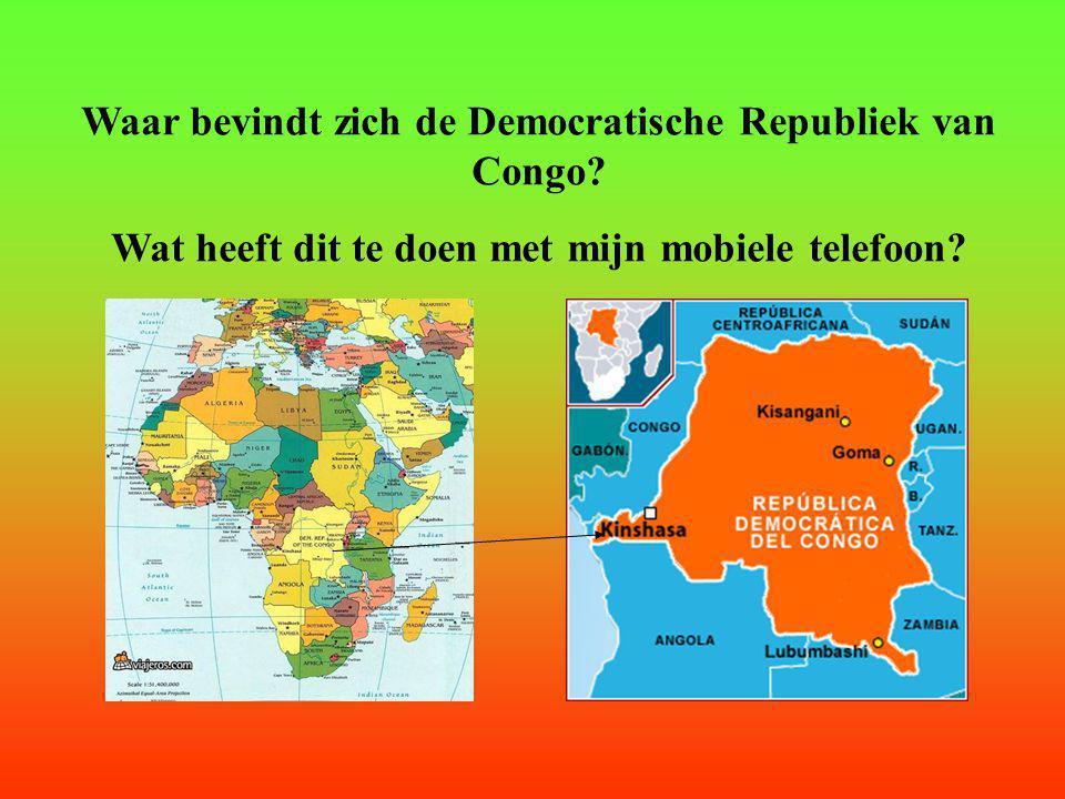 Waar bevindt zich de Democratische Republiek van Congo.