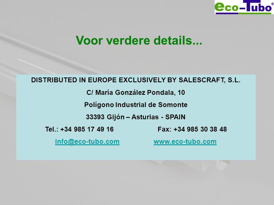 DISTRIBUTED IN EUROPE EXCLUSIVELY BY SALESCRAFT, S.L. C/ María González Pondala, 10 Polígono Industrial de Somonte 33393 Gijón – Asturias - SPAIN Tel.