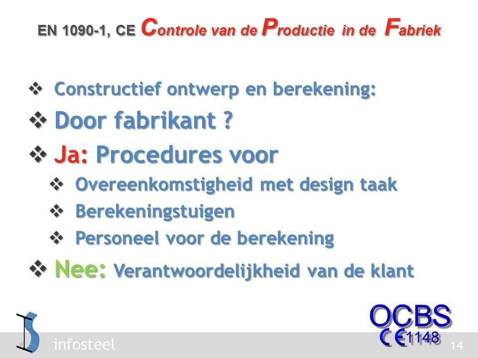 infosteel  Constructief ontwerp en berekening:  Door fabrikant .
