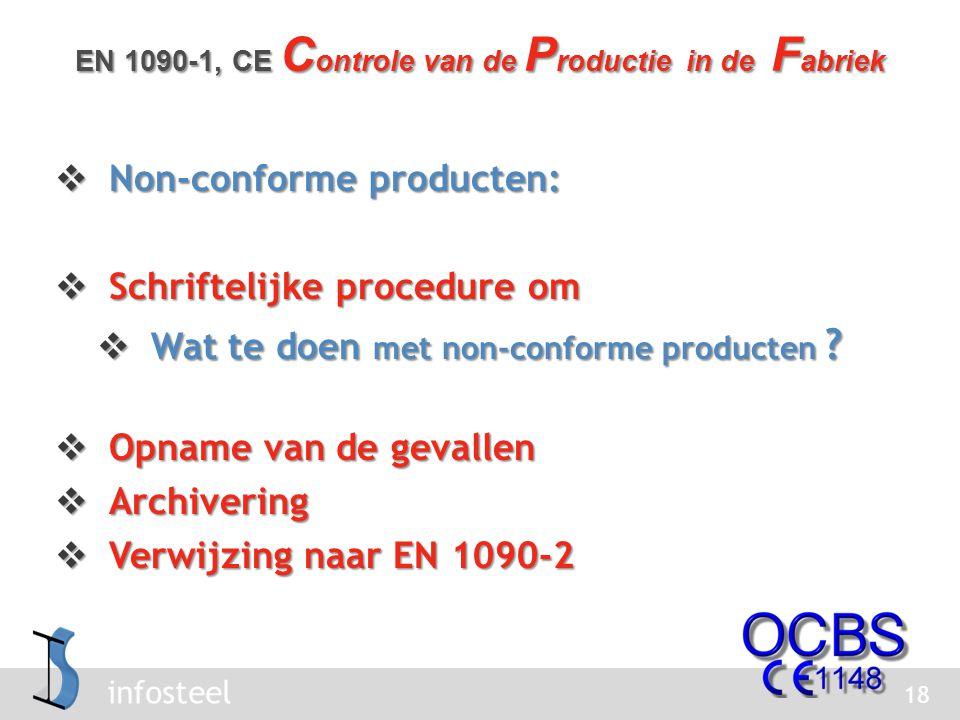 infosteel  Non-conforme producten:  Schriftelijke procedure om  Wat te doen met non-conforme producten .