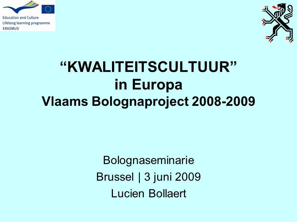inhoud kwaliteitscultuur in Europa •ontstaan van IKZ •IKZ in EHEA (Bologna) •Quality culture project (EUA) •Quality culture in EQAF •Lee Harvey & Bjǿrn Stensaker •besluiten