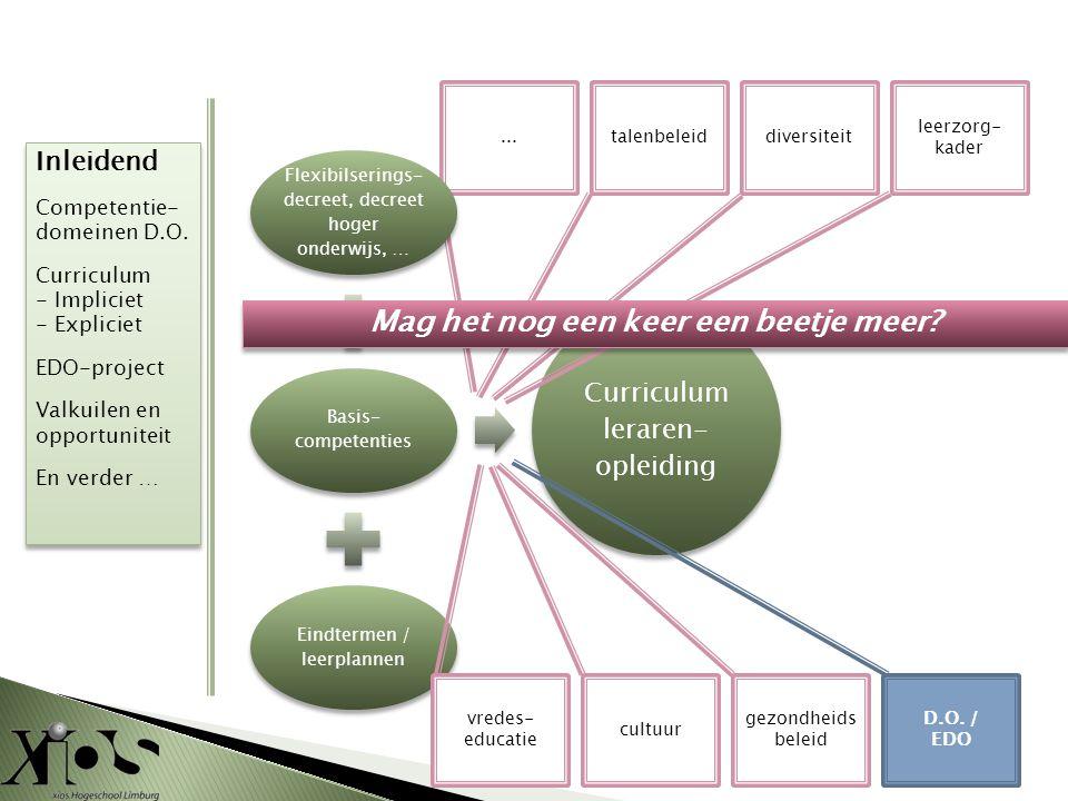 ... Flexibilserings- decreet, decreet hoger onderwijs, … Basis- competenties Eindtermen / leerplannen Curriculum leraren- opleiding talenbeleiddiversi