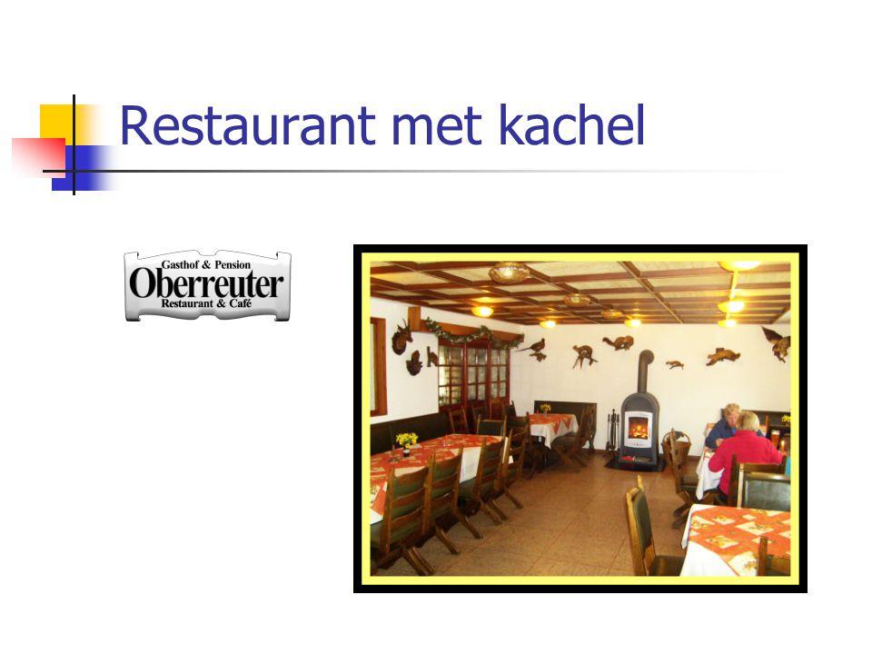 Restaurant met kachel