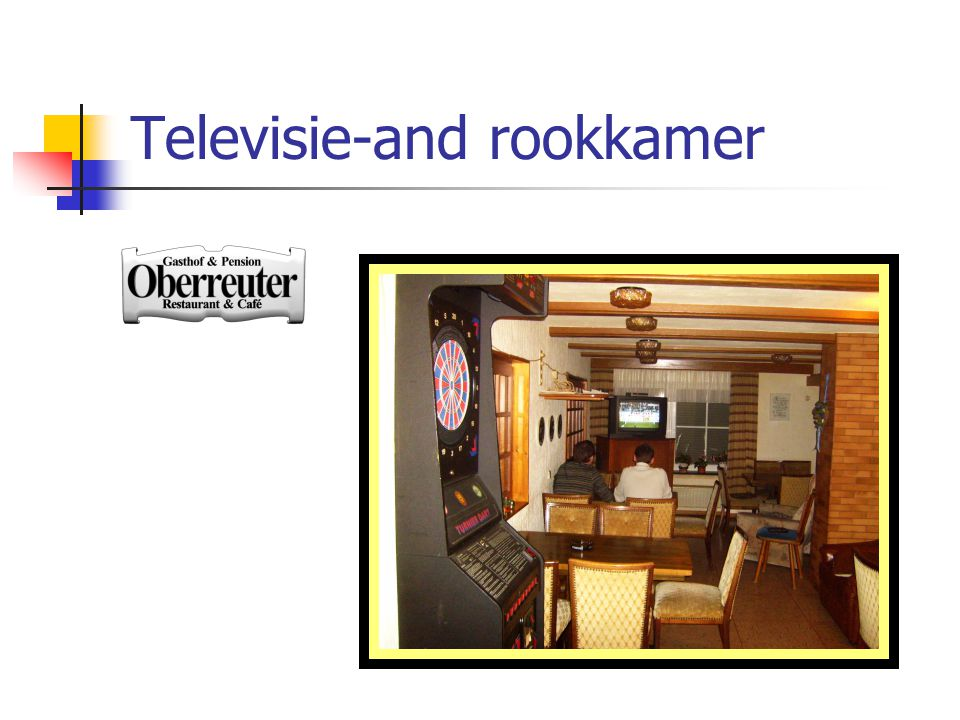 Televisie-and rookkamer