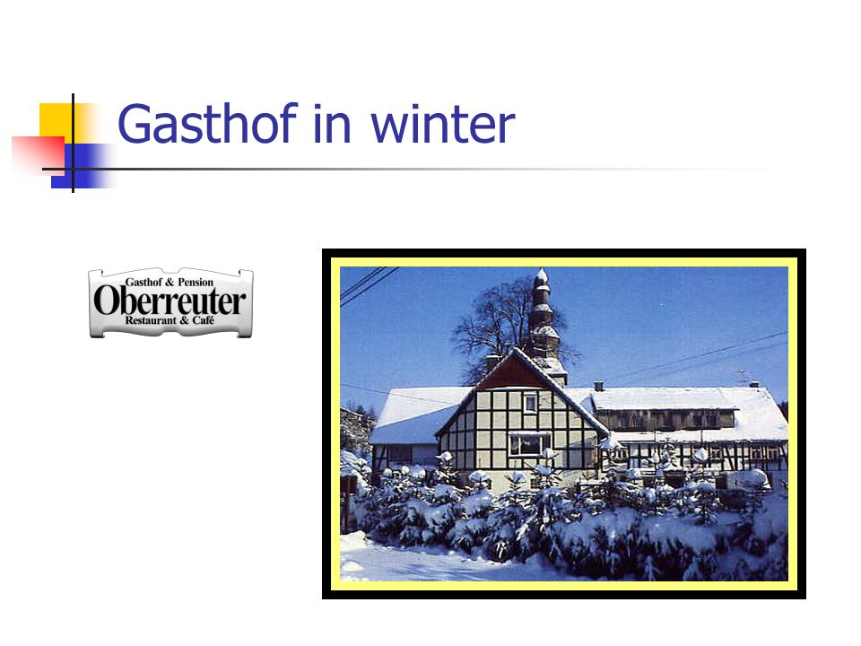Gasthof in winter