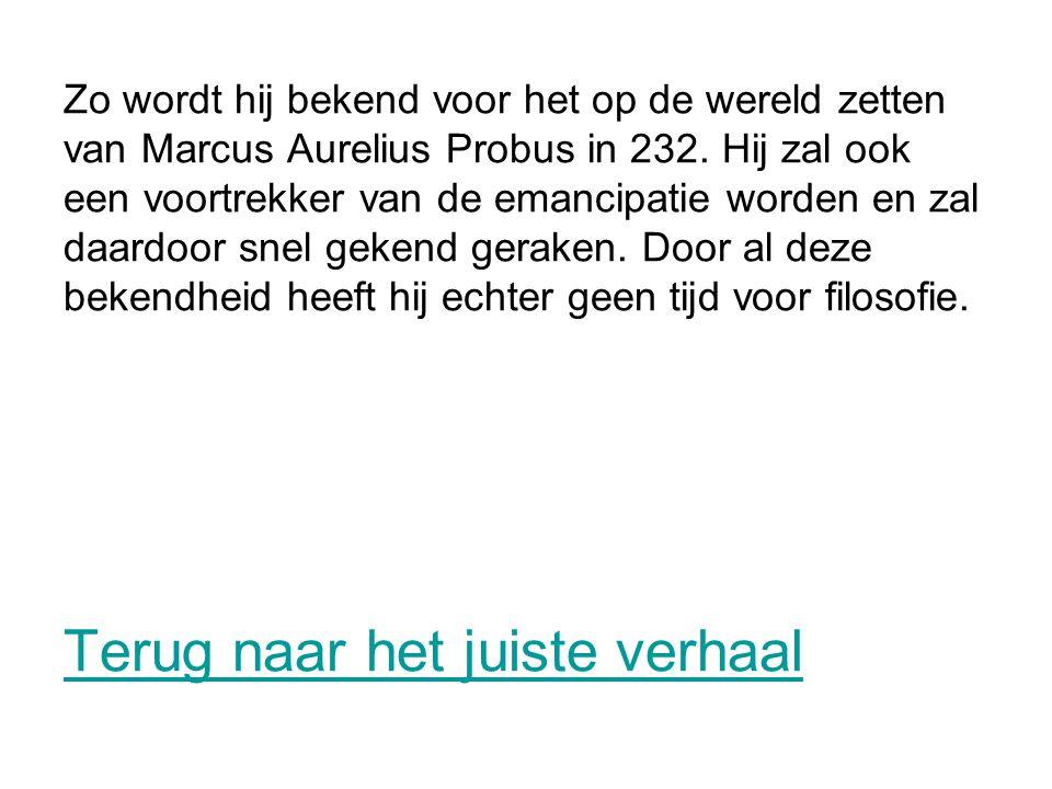 Zo wordt hij bekend voor het op de wereld zetten van Marcus Aurelius Probus in 232.