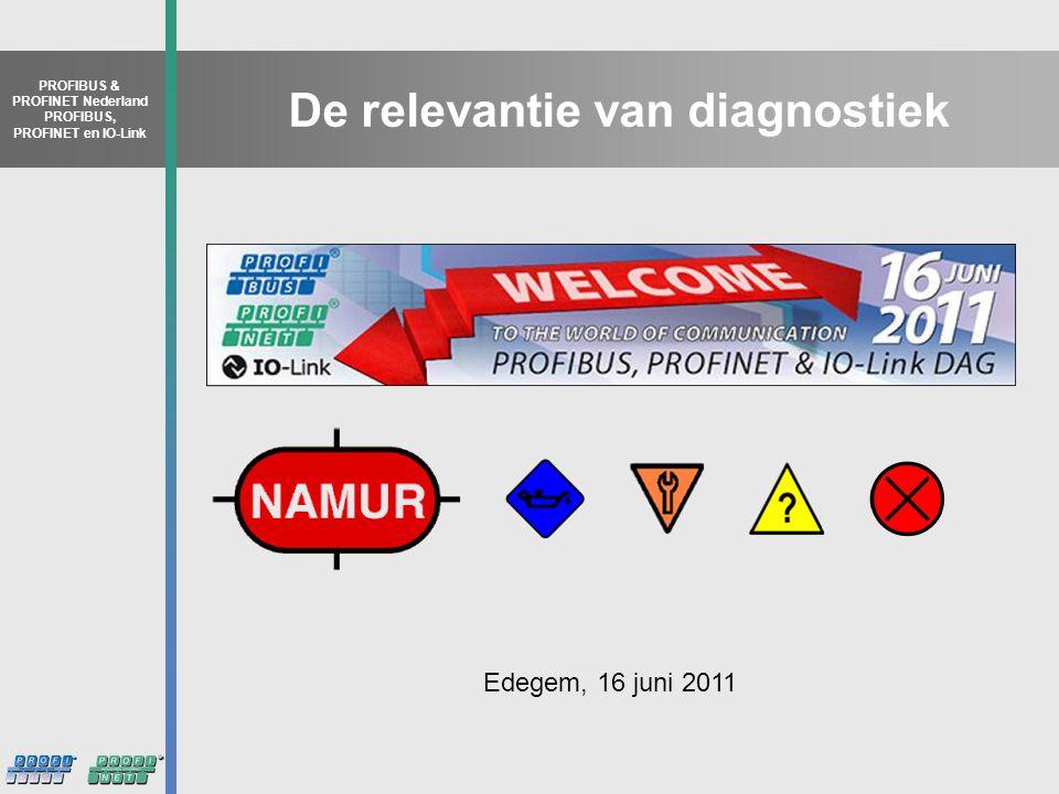 PROFIBUS & PROFINET Nederland PROFIBUS, PROFINET en IO-Link De relevantie van diagnostiek Edegem, 16 juni 2011