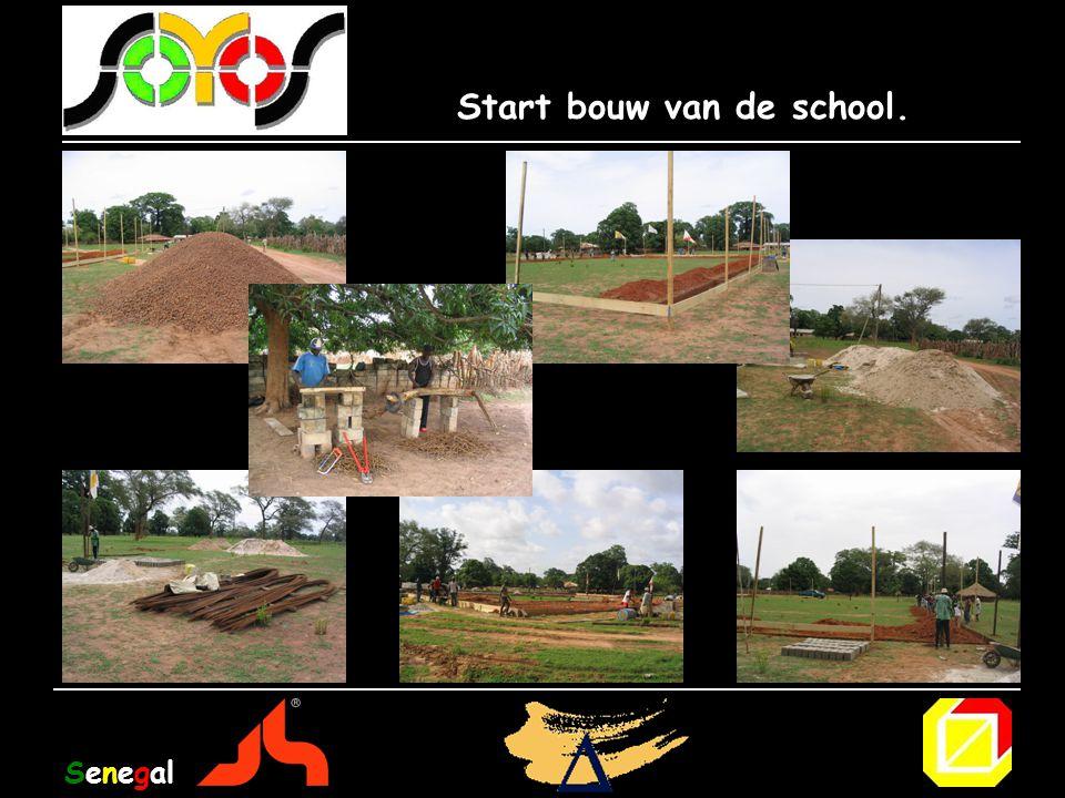 Start bouw van de school. Senegal