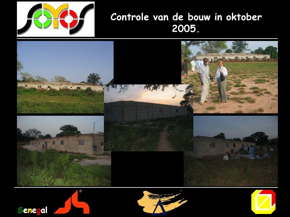 Controle van de bouw in oktober 2005. Senegal