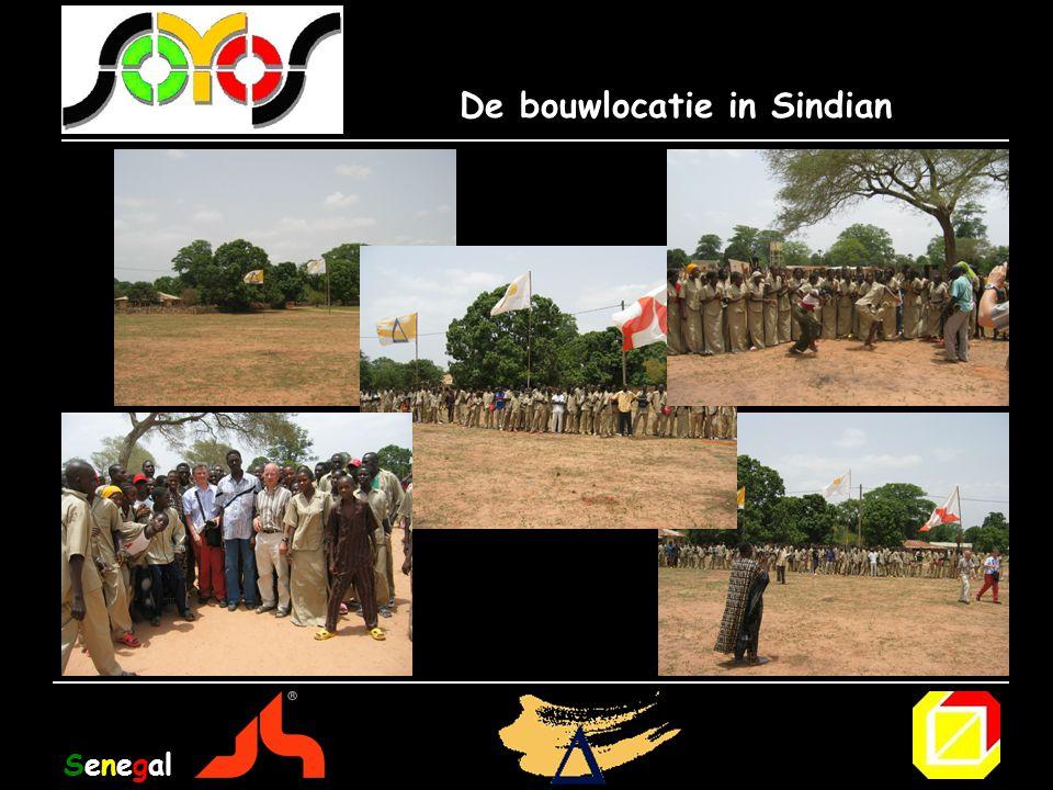 De bouwlocatie in Sindian Senegal