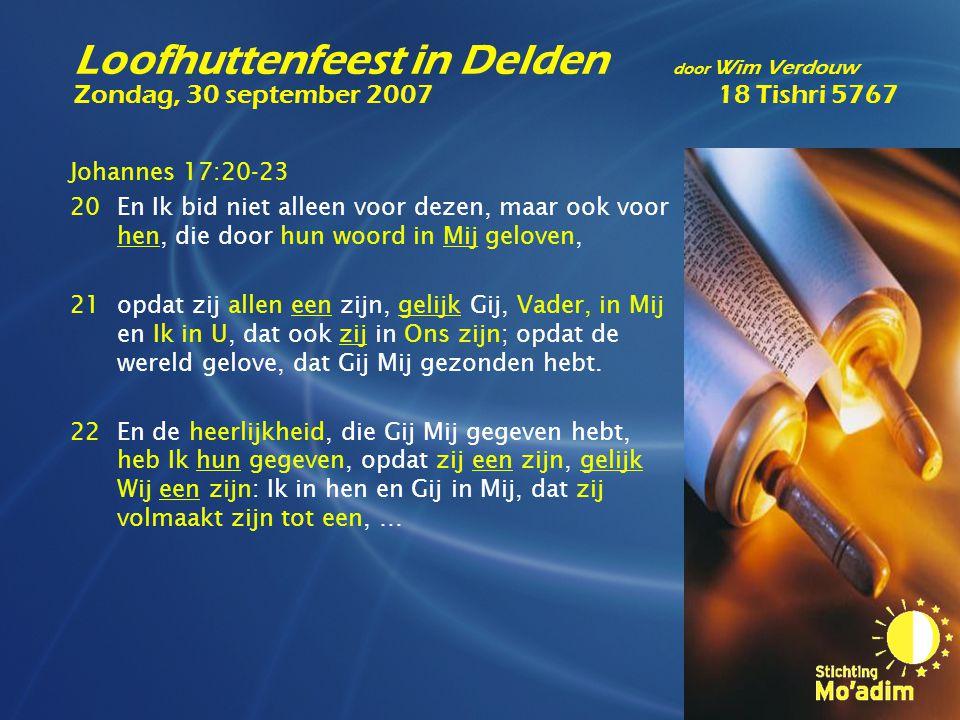 Johannes 17:20-23 20En Ik bid niet alleen voor dezen, maar ook voor hen, die door hun woord in Mij geloven, 21opdat zij allen een zijn, gelijk Gij, Va