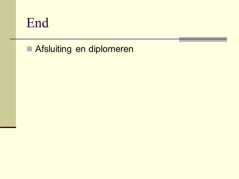 End  Afsluiting en diplomeren