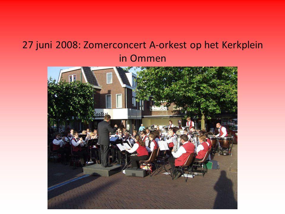 27 juni 2008: Zomerconcert A-orkest op het Kerkplein in Ommen