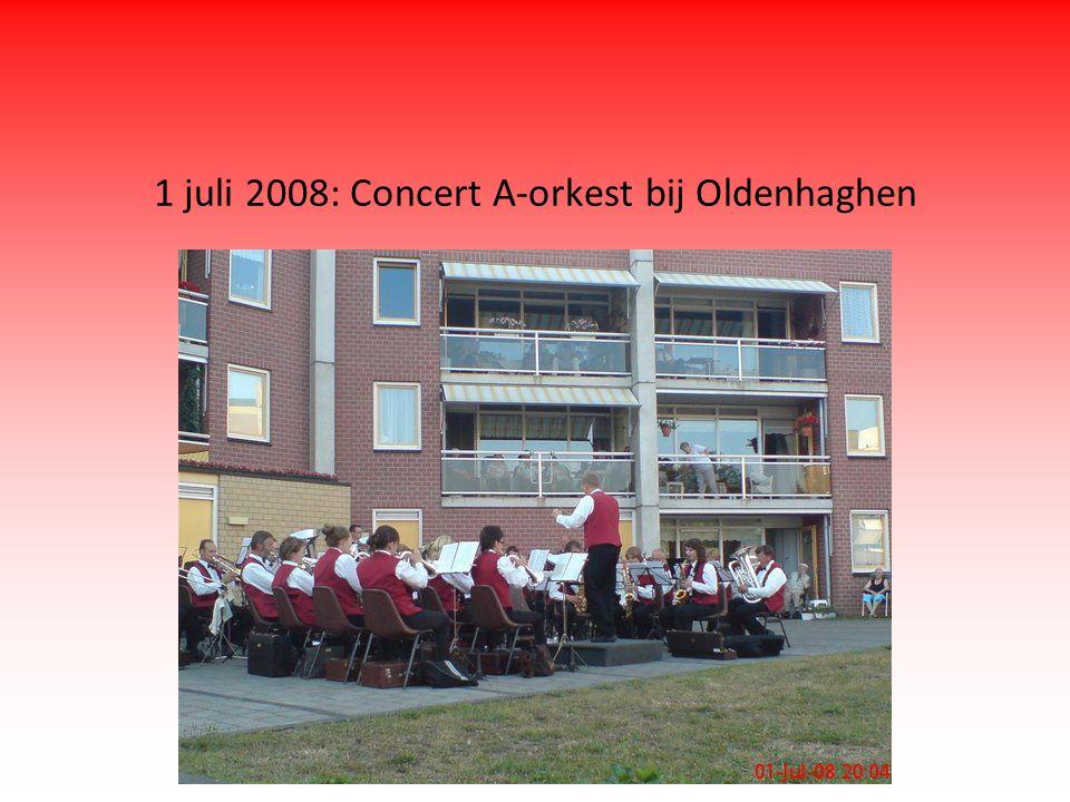 1 juli 2008: Concert A-orkest bij Oldenhaghen