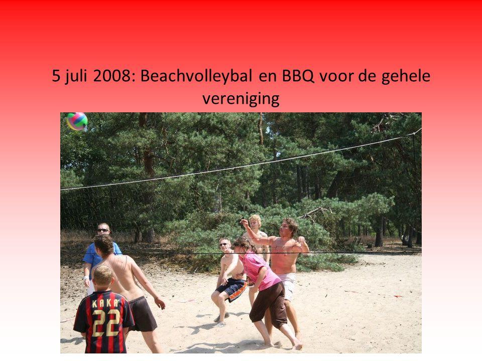 5 juli 2008: Beachvolleybal en BBQ voor de gehele vereniging