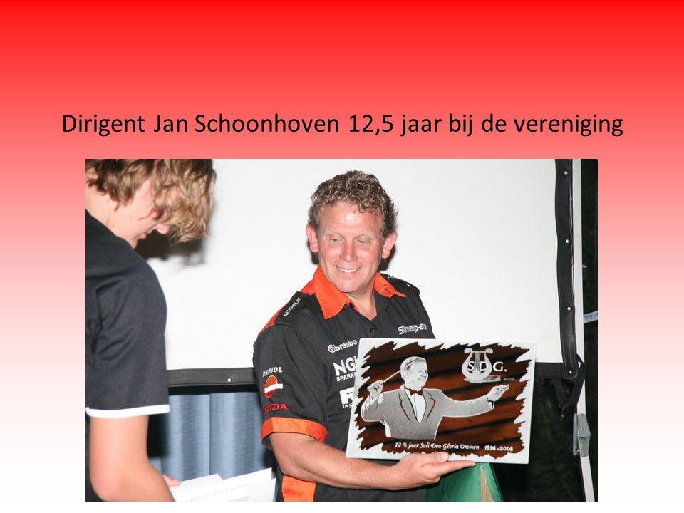 Dirigent Jan Schoonhoven 12,5 jaar bij de vereniging