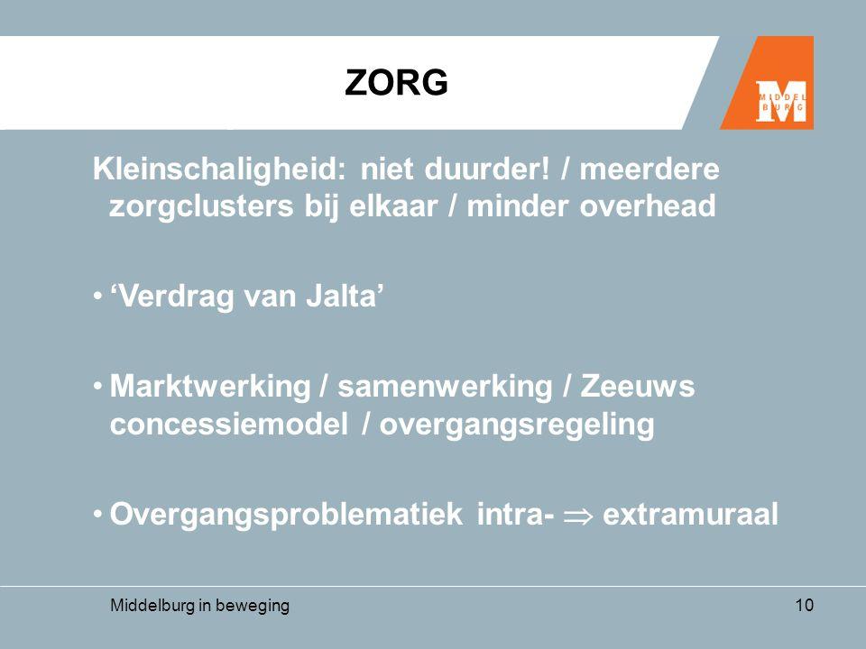 Middelburg in beweging10 Kleinschaligheid: niet duurder.